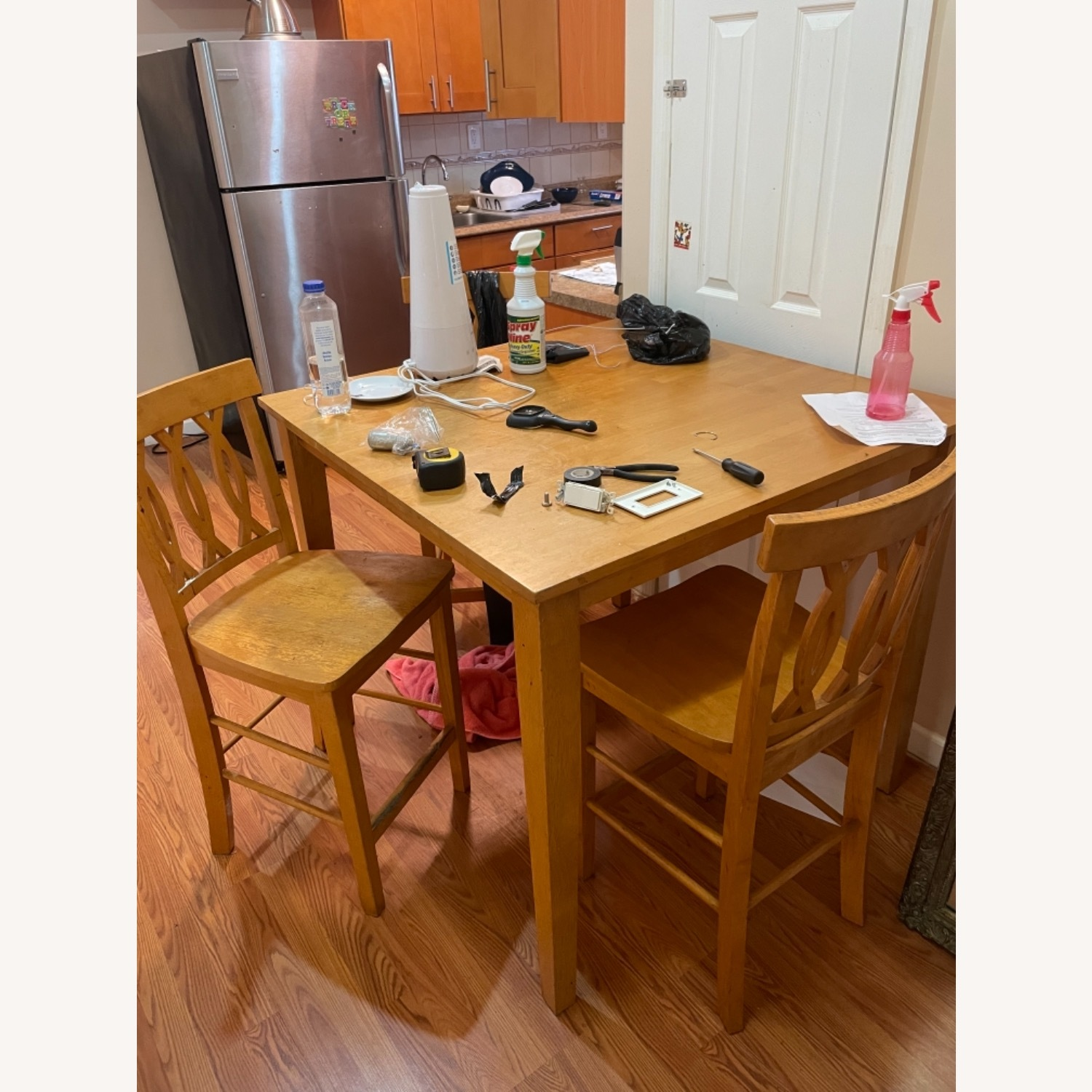 Wood Square Table - image-1