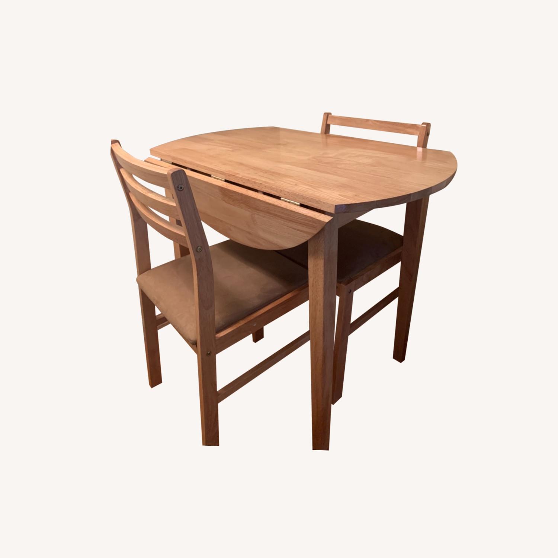 3pc Dinette Set in Natural Wood Finish - image-0