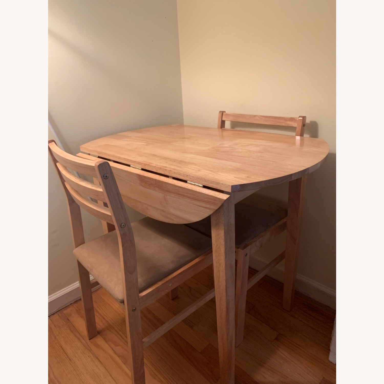 3pc Dinette Set in Natural Wood Finish - image-1
