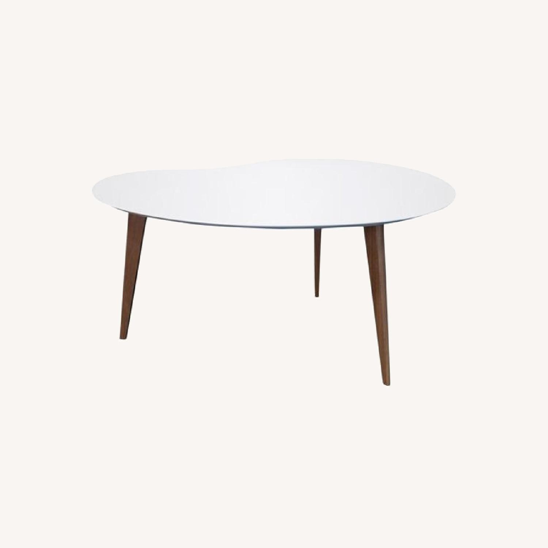 Jonathan Adler Okura Small White Kidney Table - image-0