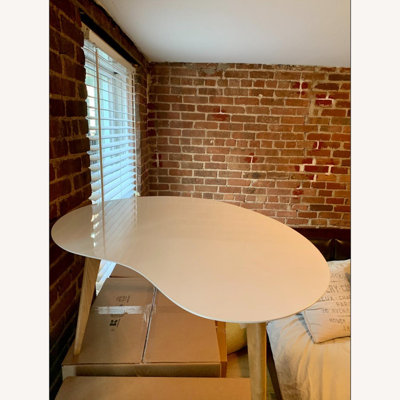Jonathan Adler Okura Small White Kidney Table - image-1