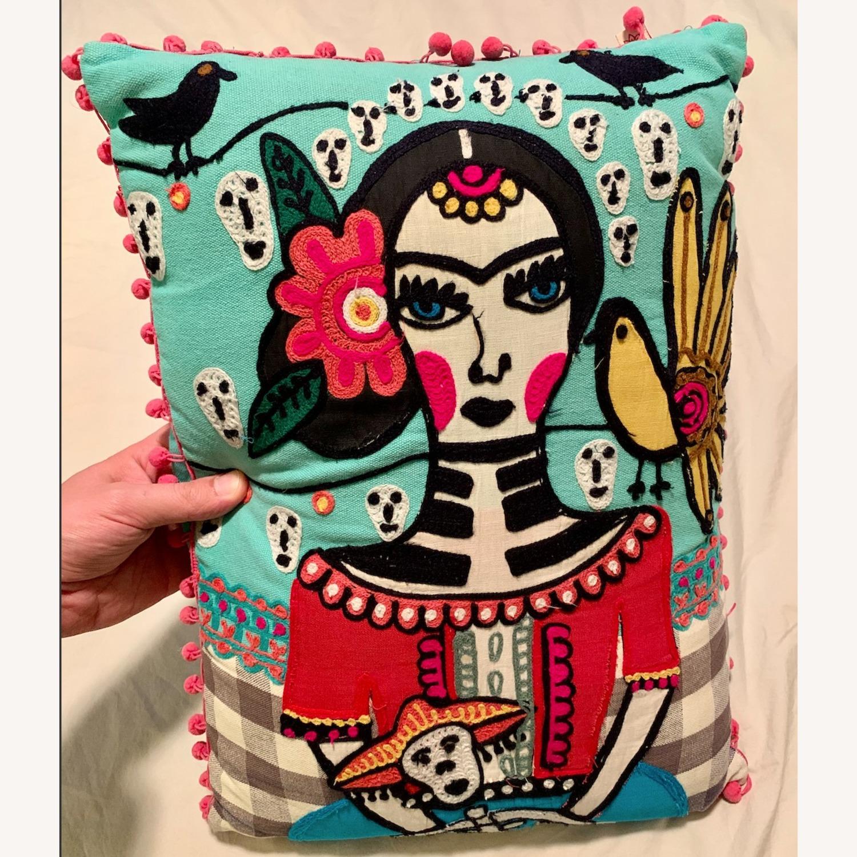 Vintage Frida Kahlo Decorative Pillow - image-1