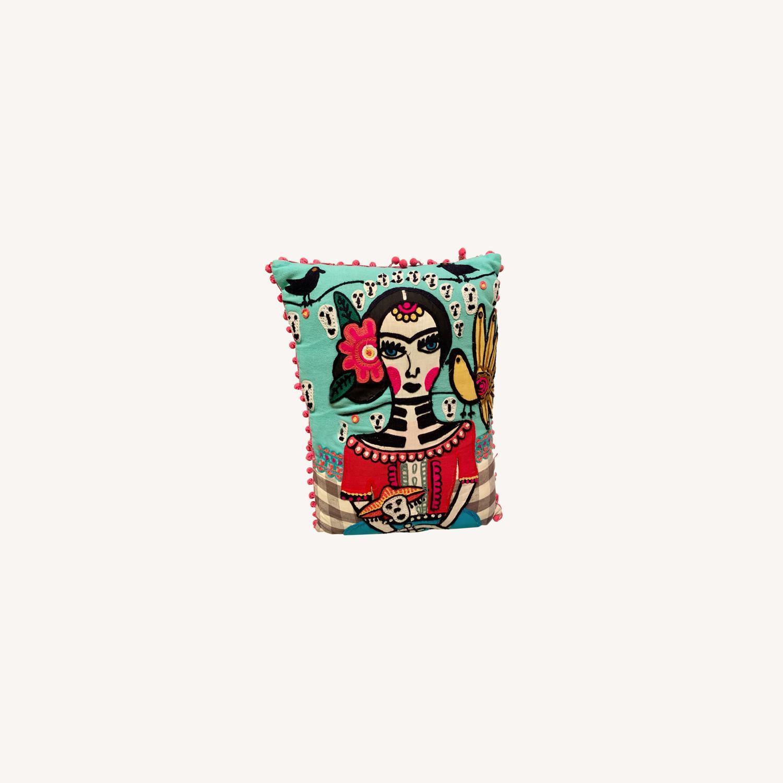 Vintage Frida Kahlo Decorative Pillow - image-0