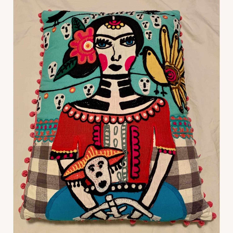 Vintage Frida Kahlo Decorative Pillow - image-2