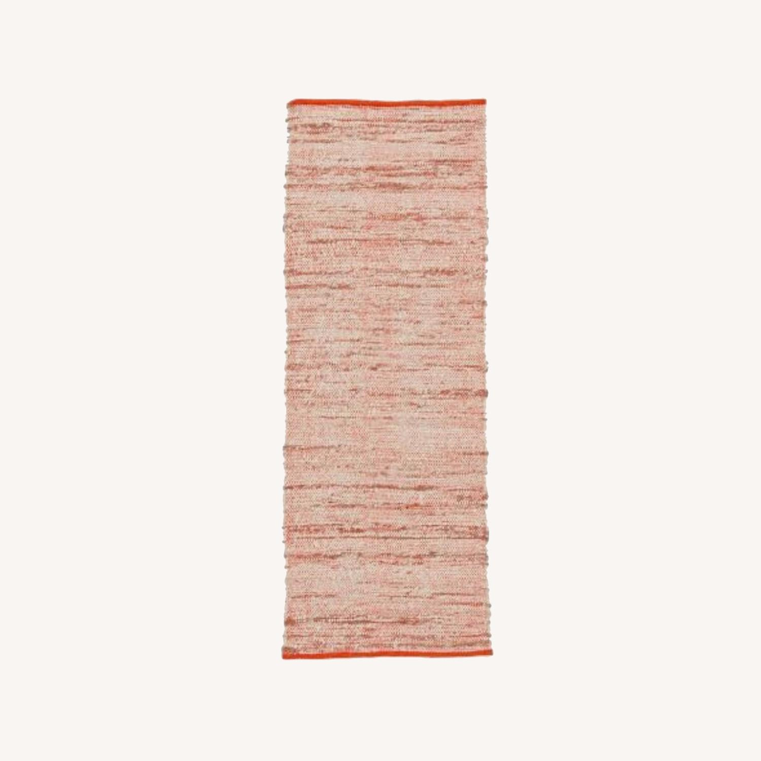 West Elm Plain Weave Sweater Wool Rug, 2.5'x7', Cayenne - image-0