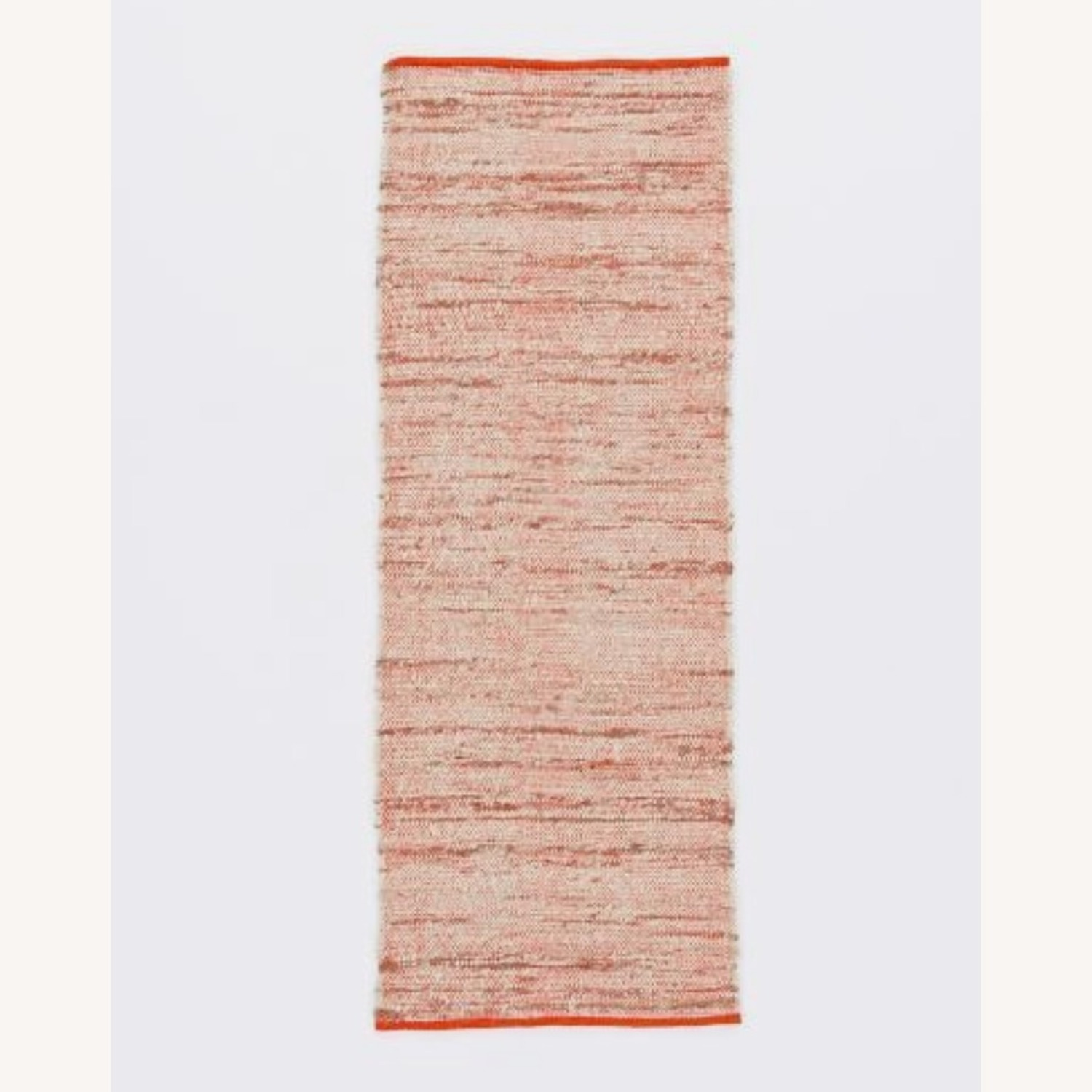 West Elm Plain Weave Sweater Wool Rug, 2.5'x7', Cayenne - image-1
