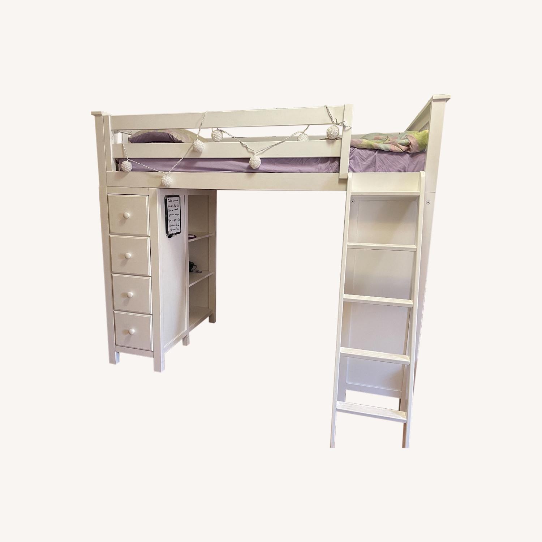 Space Saver Loft w/Desk, Chest & Ladder, Twin - image-0