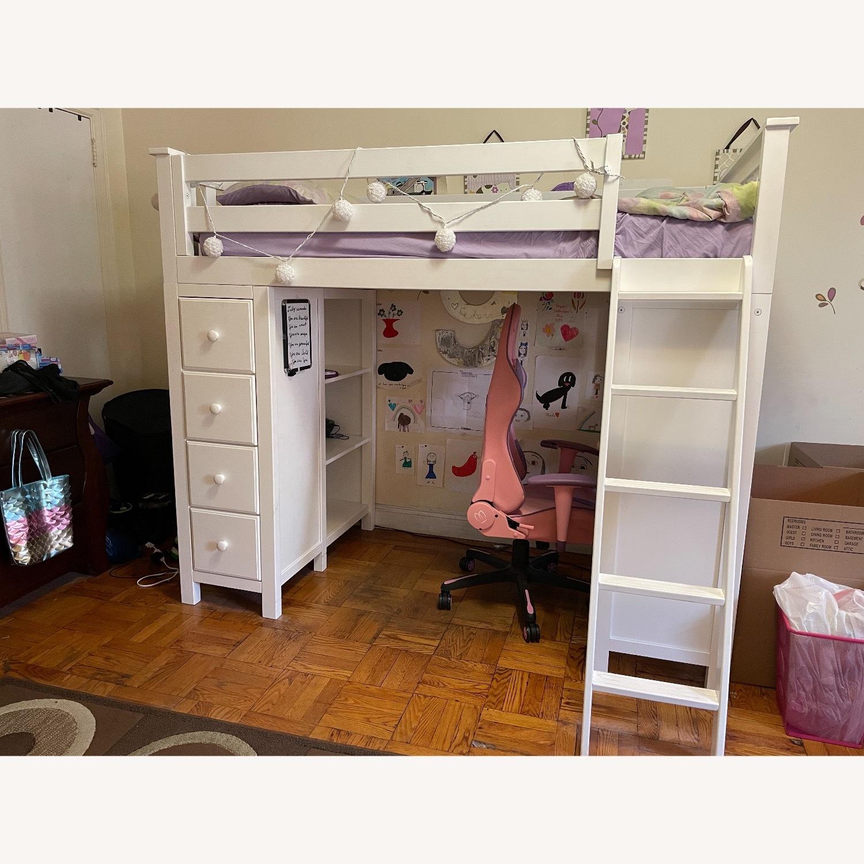 Space Saver Loft w/Desk, Chest & Ladder, Twin - image-1