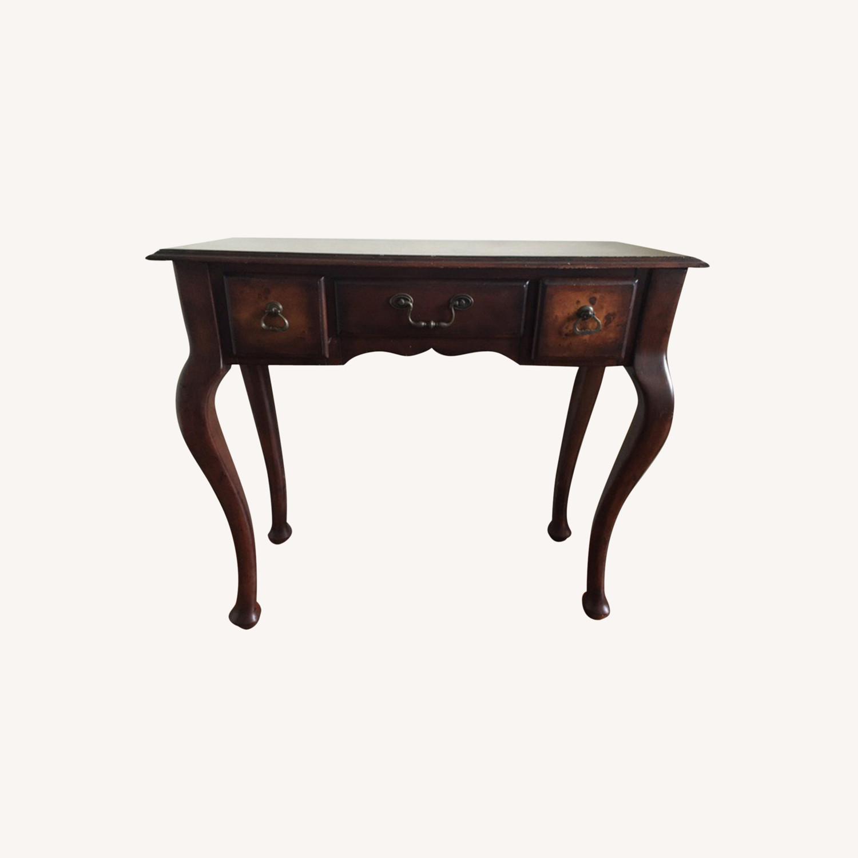 Wood Console Table Vintage Retro/Antique Style - image-0