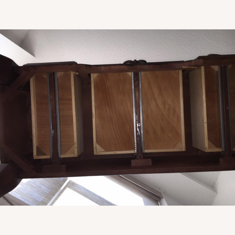 Wood Console Table Vintage Retro/Antique Style - image-5