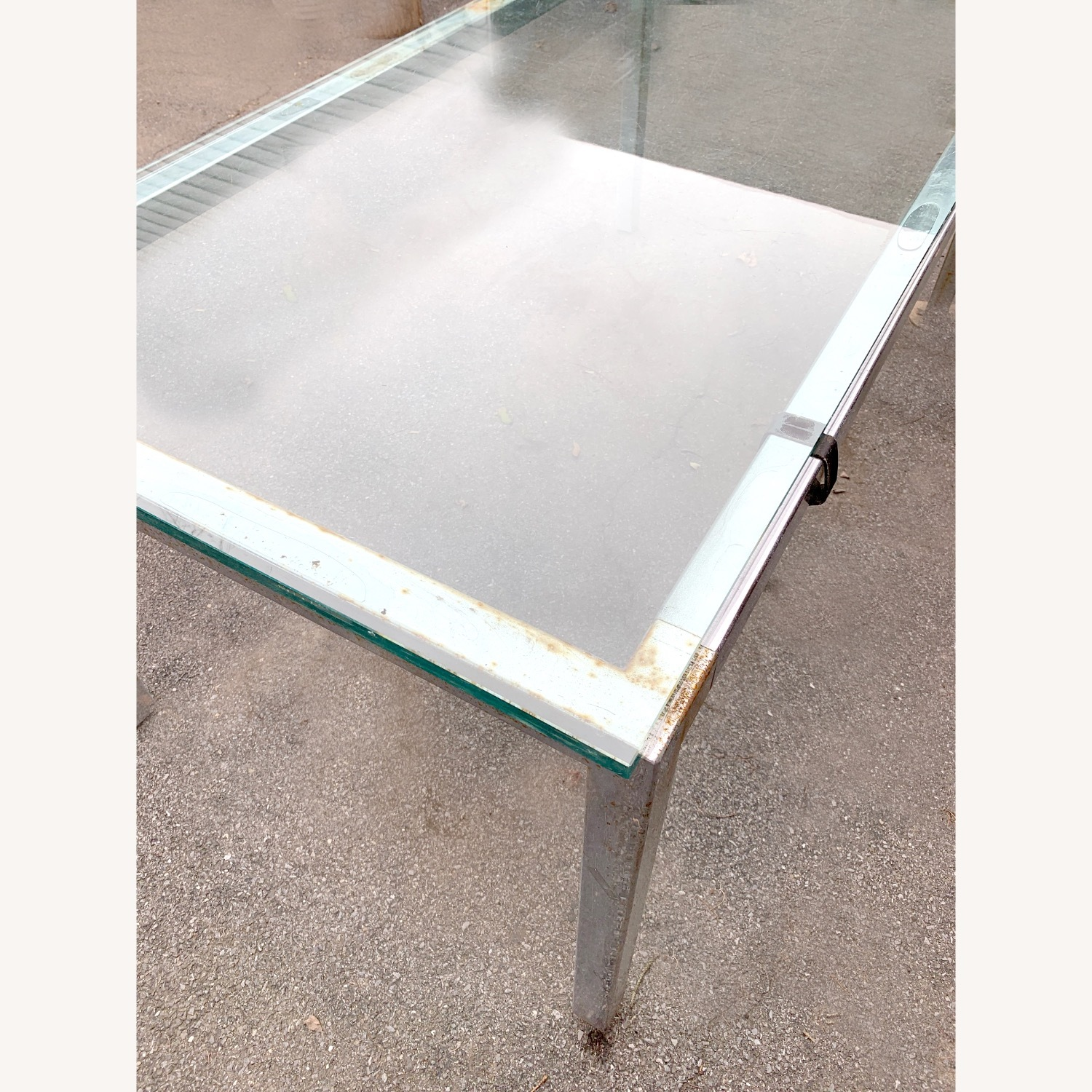 Glass Top Metal Dining Table Desk, Meeting Table - image-4