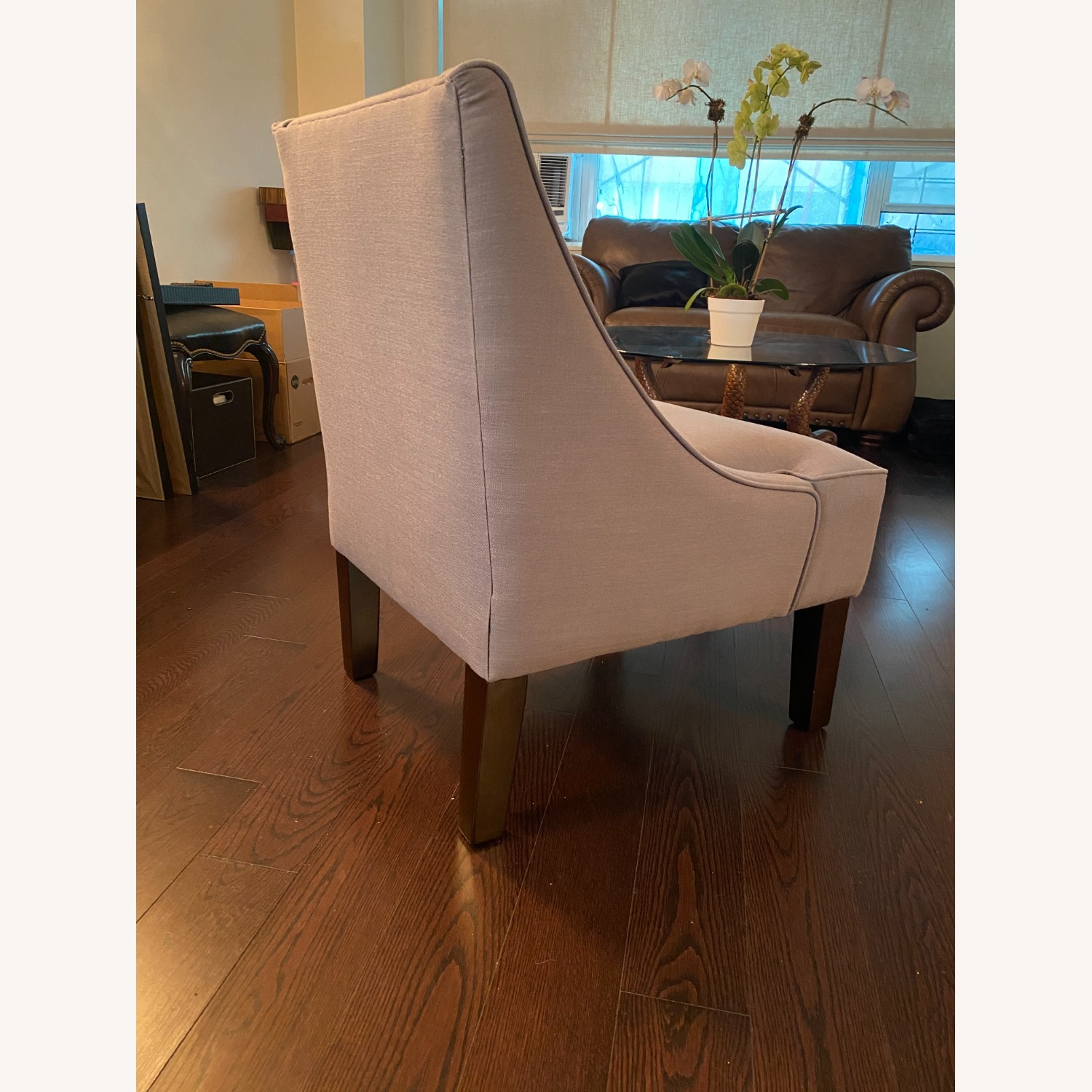 Gray Lounge Accent Chair - image-2