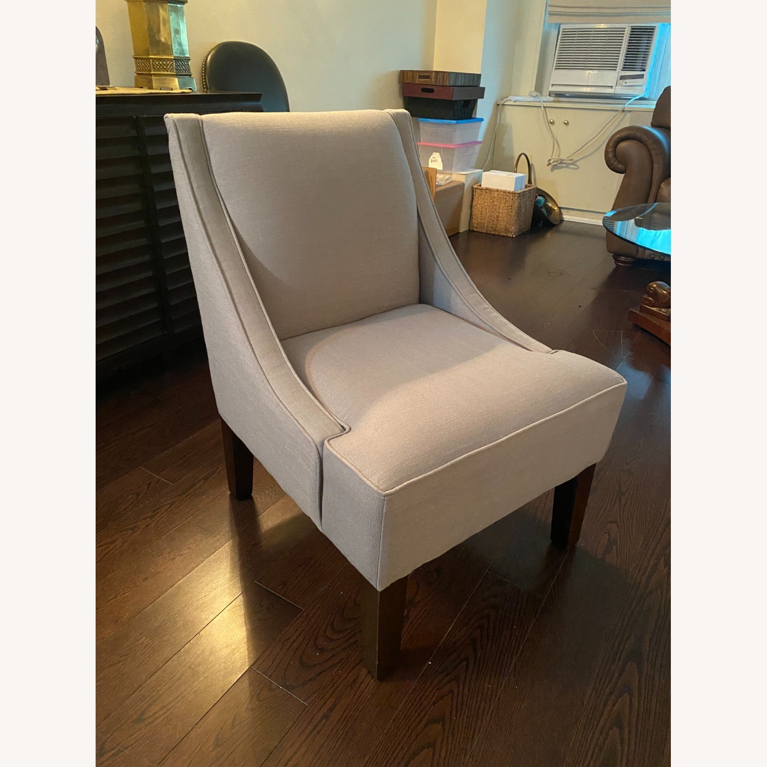 Gray Lounge Accent Chair - image-1