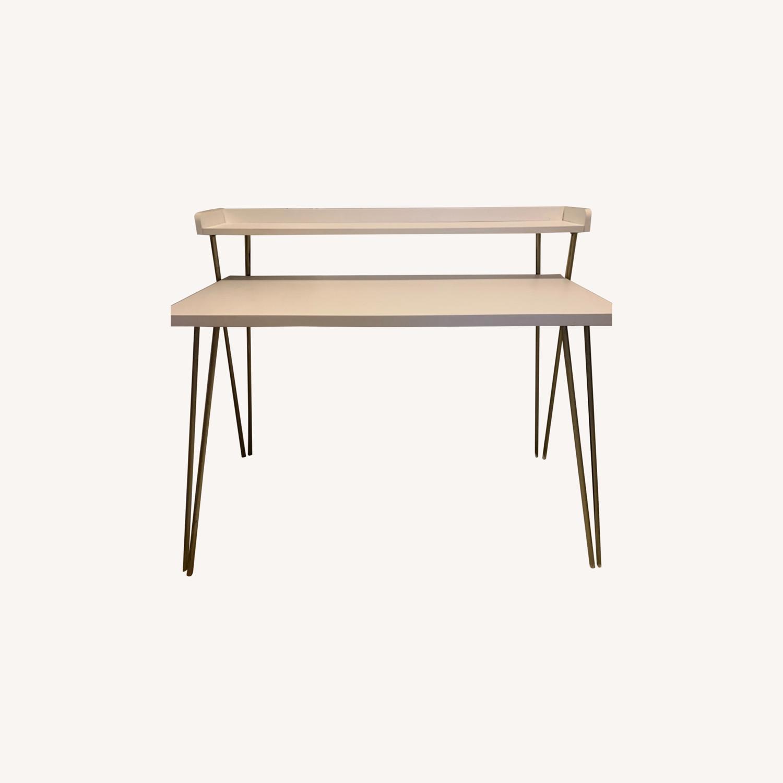 Mid Century Modern Pin Leg Desk - image-0
