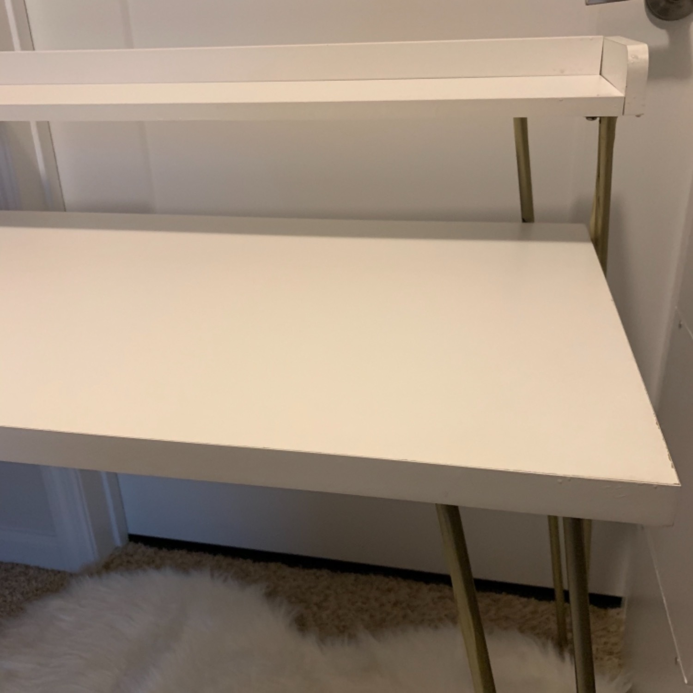 Mid Century Modern Pin Leg Desk - image-2