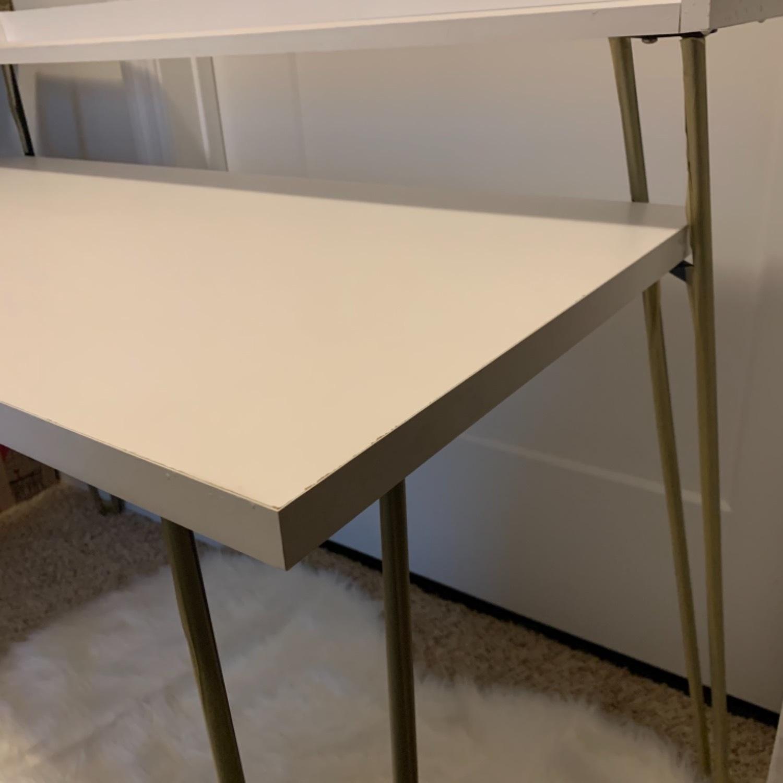 Mid Century Modern Pin Leg Desk - image-6