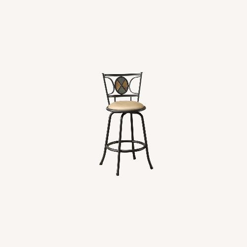 Used Poundex 2 Swivel Barstools Height Adjustable for sale on AptDeco
