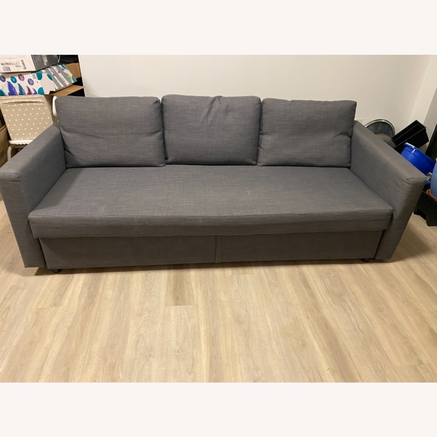 IKEA Dark Grey Sofa Bed - image-1
