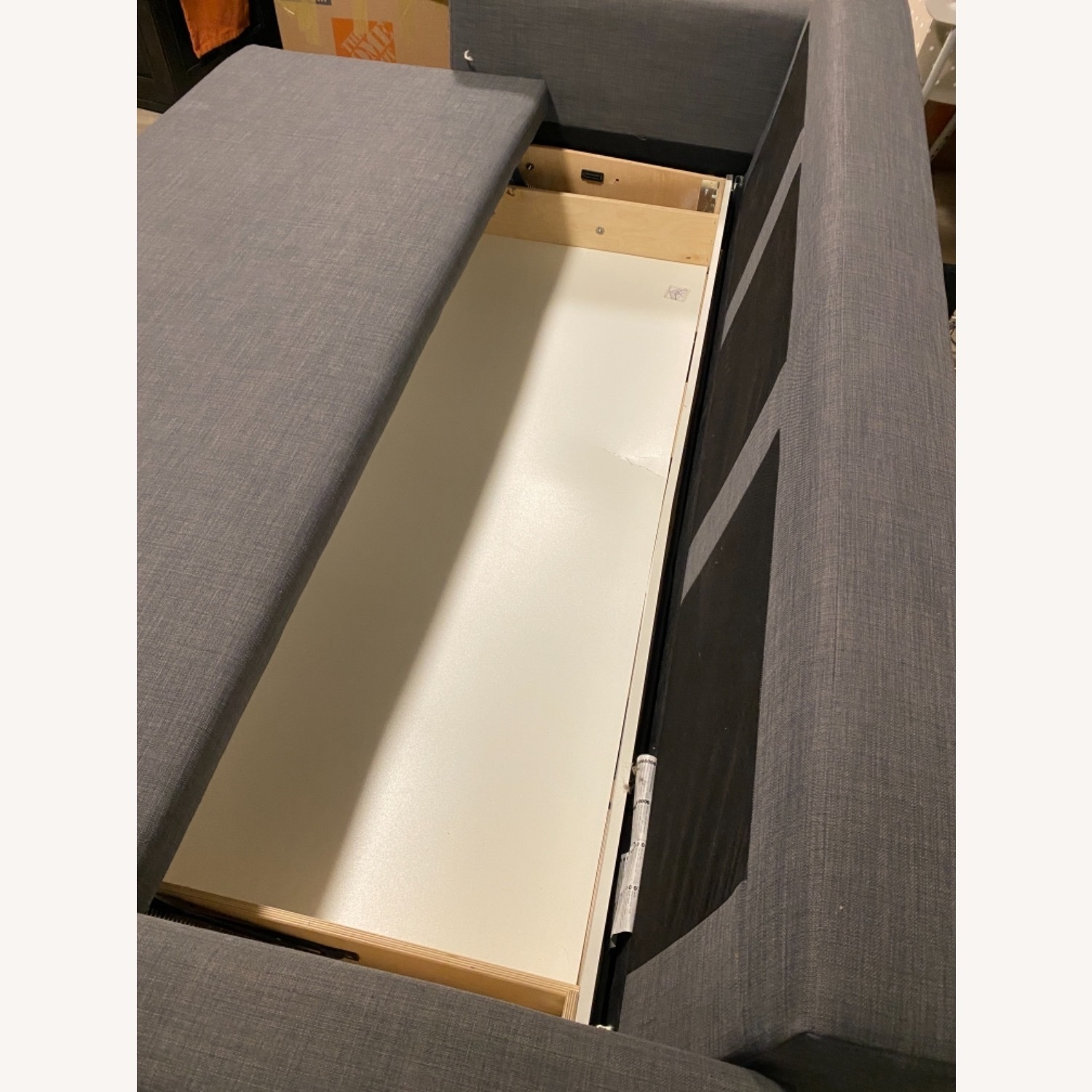 IKEA Dark Grey Sofa Bed - image-7