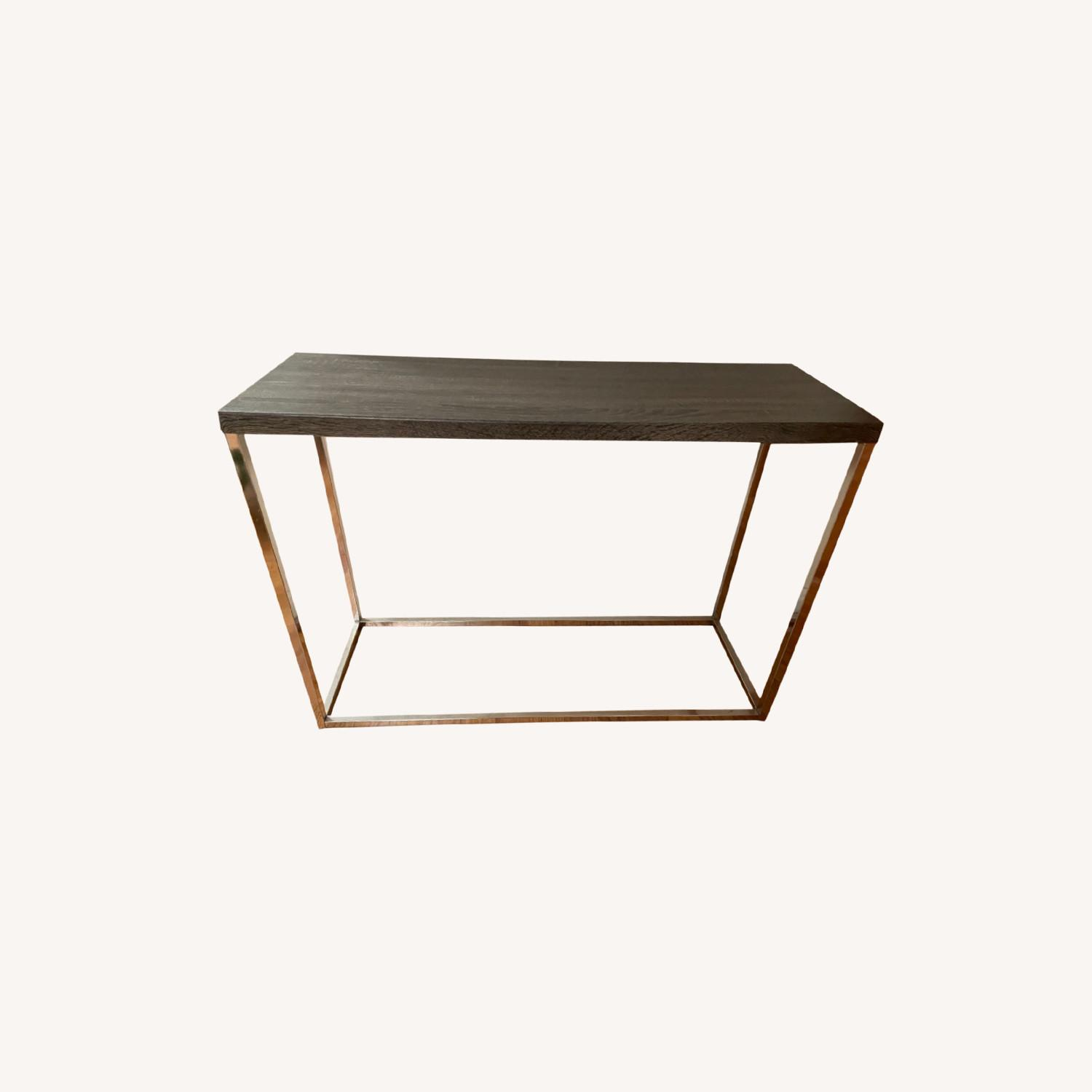 Gray and Silver Console Table - image-0