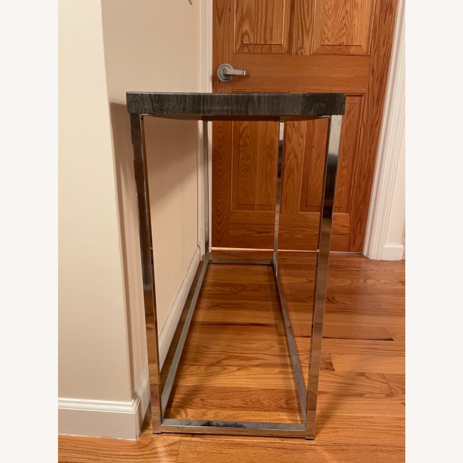 Gray and Silver Console Table - image-4
