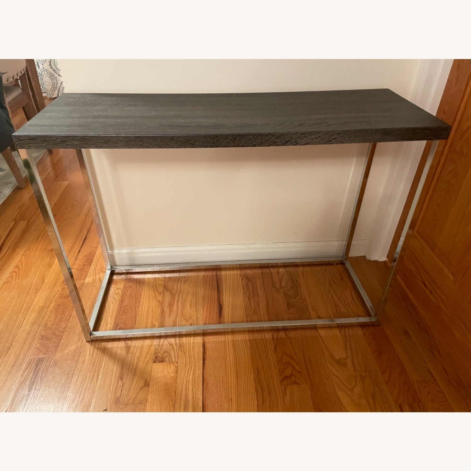 Gray and Silver Console Table - image-1