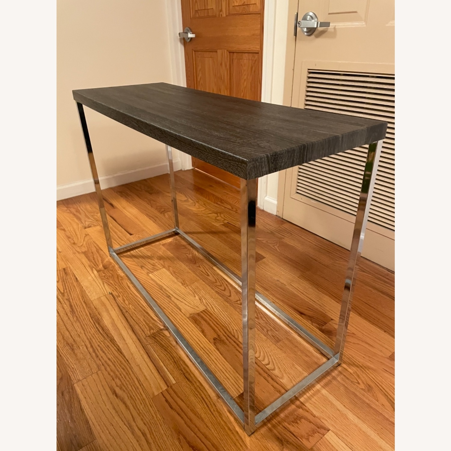 Gray and Silver Console Table - image-2