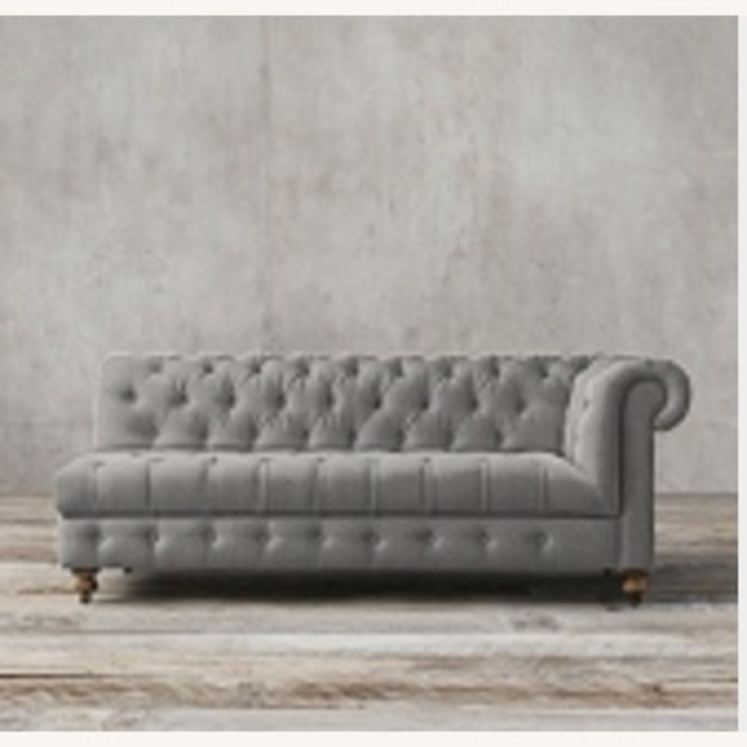 Restoration Hardware Tufted Linen Sectional Couch - image-2