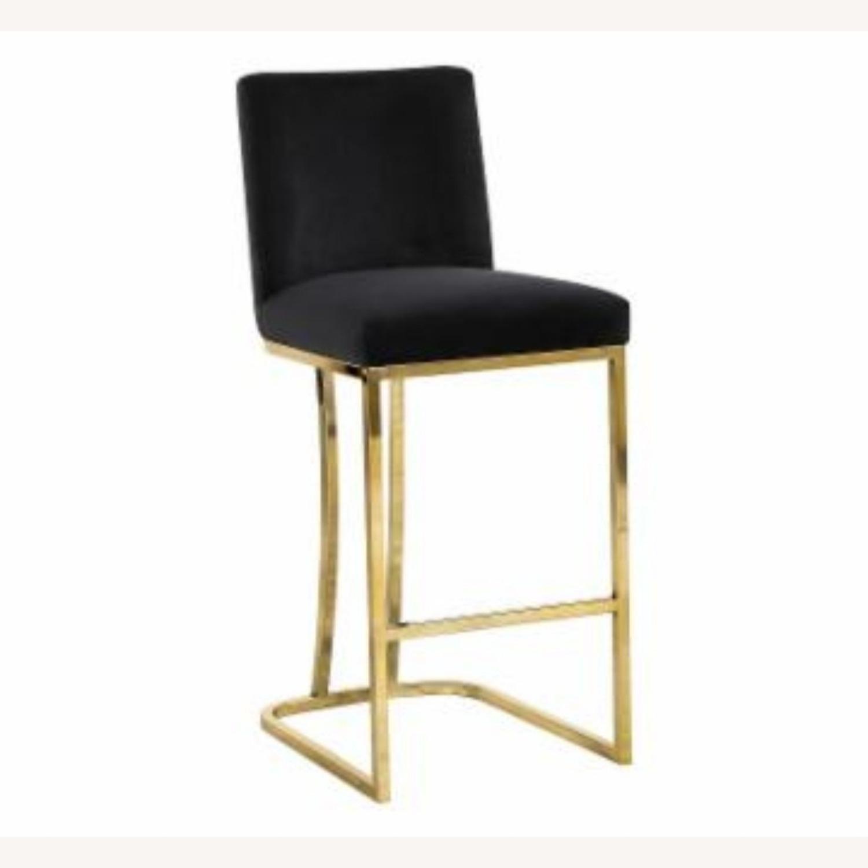 Hayneedle Black Velvet & Gold Counter Stools Set of 2. - image-2