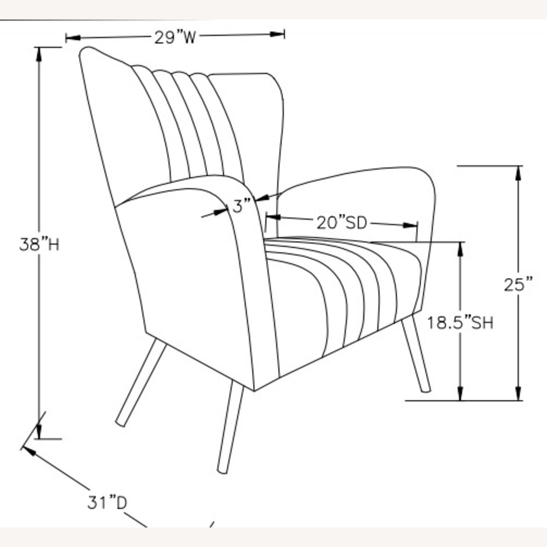 Accent Chair In Rose Velvet Upholstery & Gold Legs - image-2