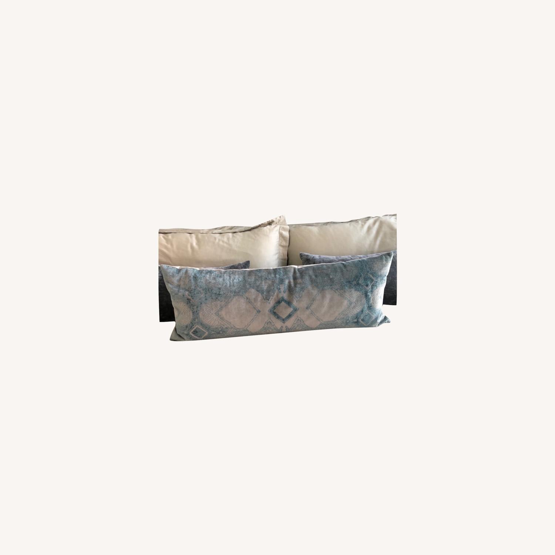 Restoration Hardware Velvet Lumbar Pillow and Insert - image-0