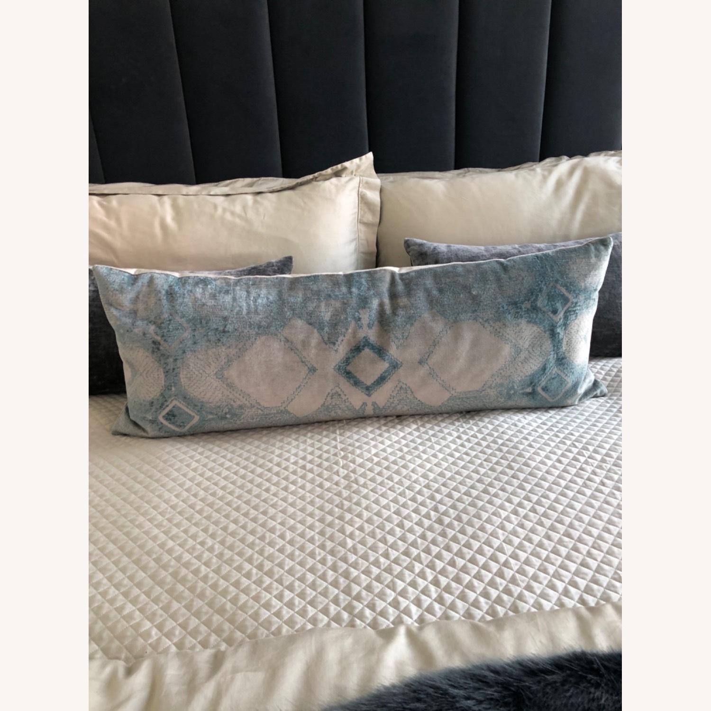 Restoration Hardware Velvet Lumbar Pillow and Insert - image-1
