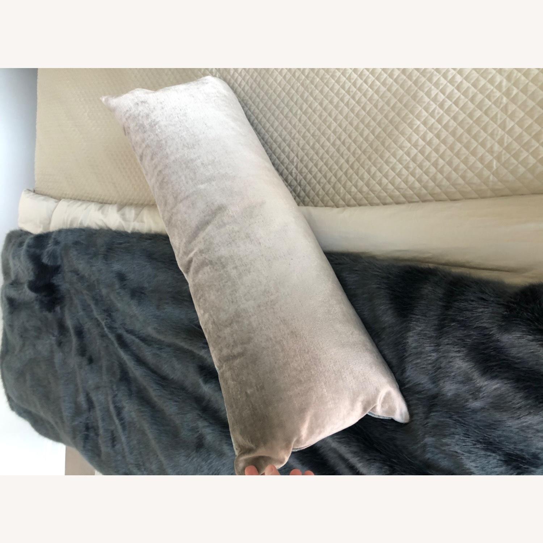 Restoration Hardware Velvet Lumbar Pillow and Insert - image-3