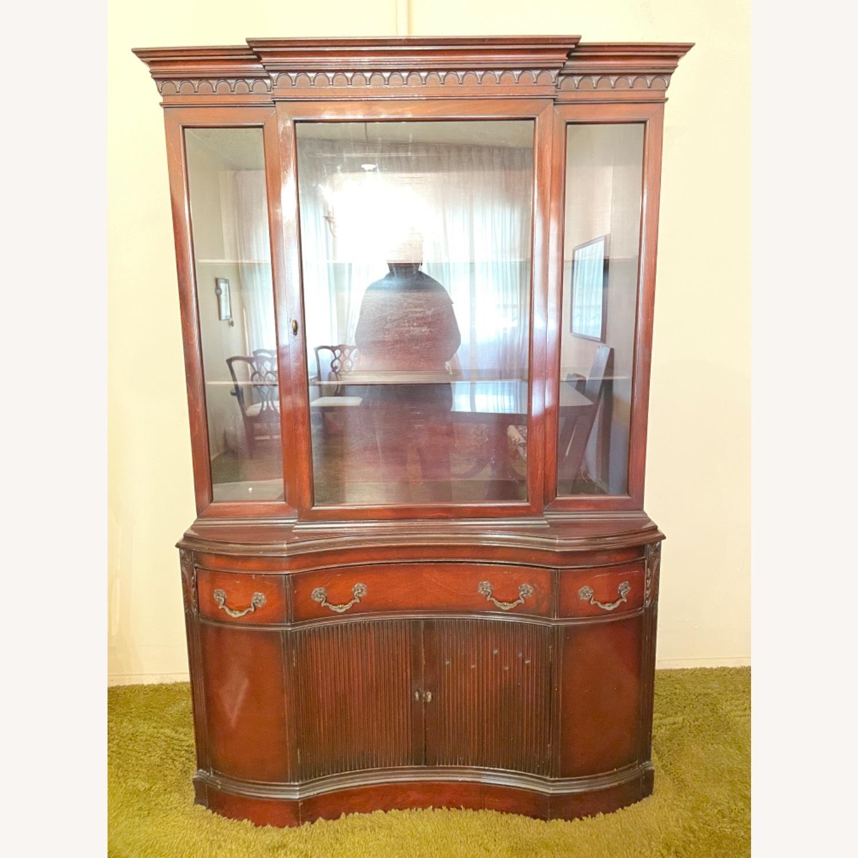 Antique 1930s Solid Mahogany China Cabinet - image-2