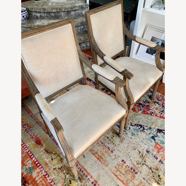 Restoration Hardware Vintage French Armchairs - image-9