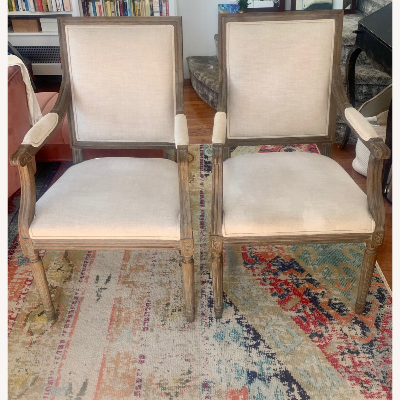 Restoration Hardware Vintage French Armchairs - image-1