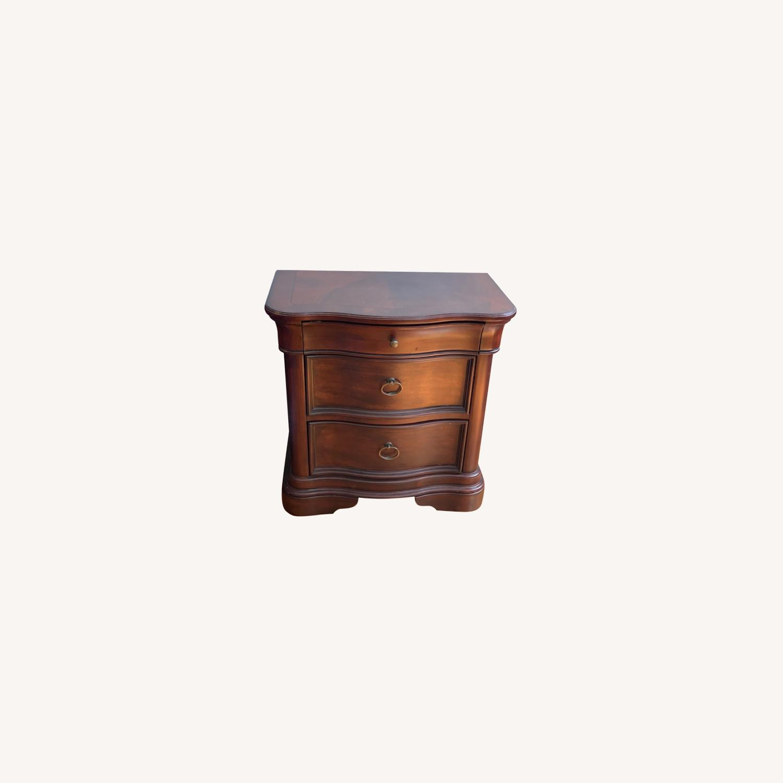 Raymour & Flanigan Dark Wood Nighstand - image-0
