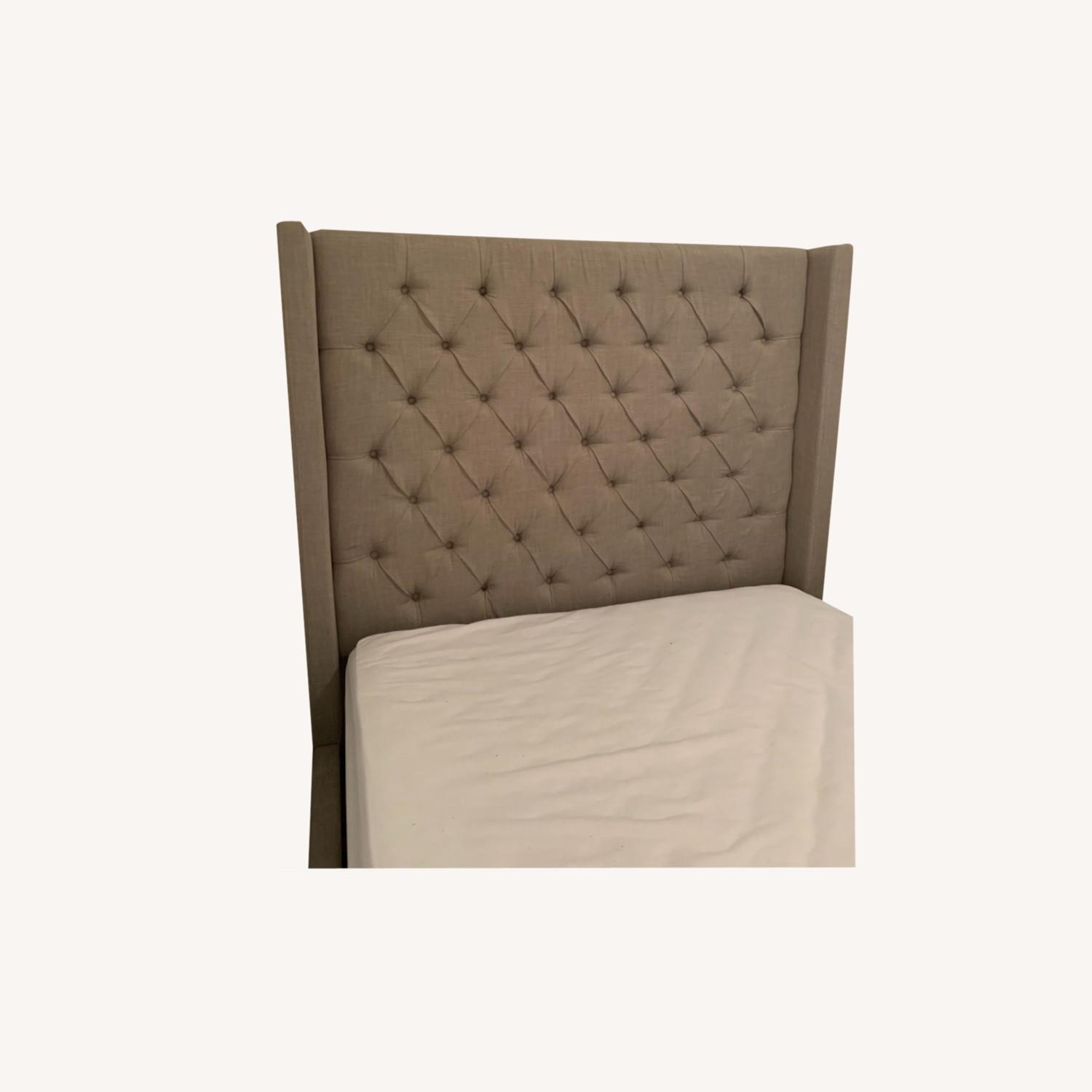 Tufted Grey Headboard for Queen Bed - image-0