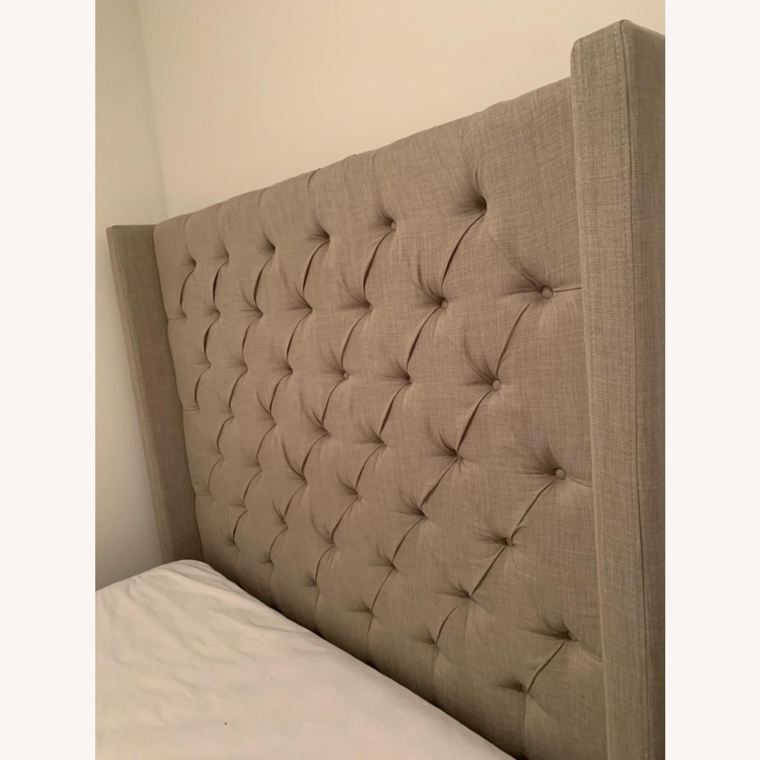 Tufted Grey Headboard for Queen Bed - image-2