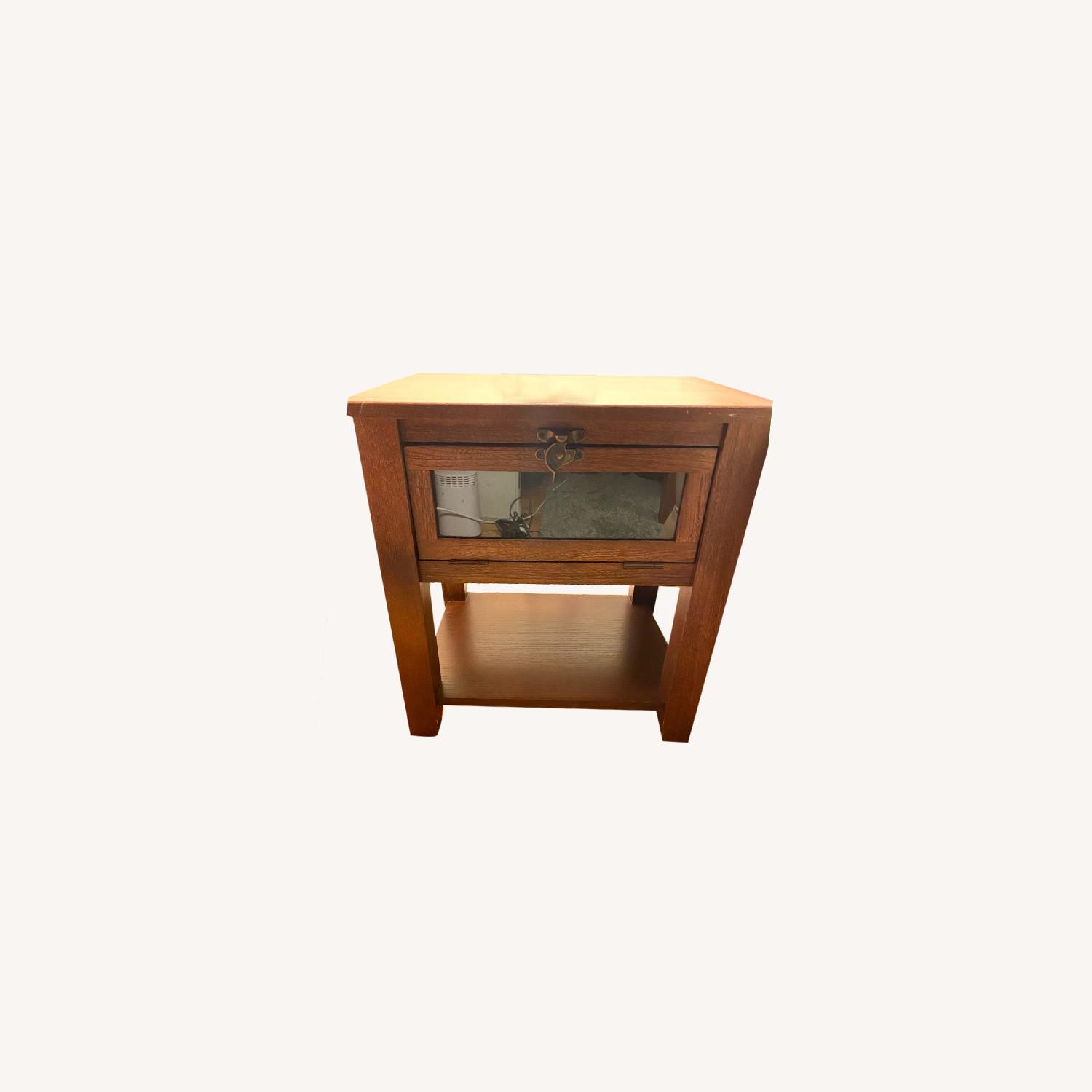 Oak Living Room Side Tables - image-0