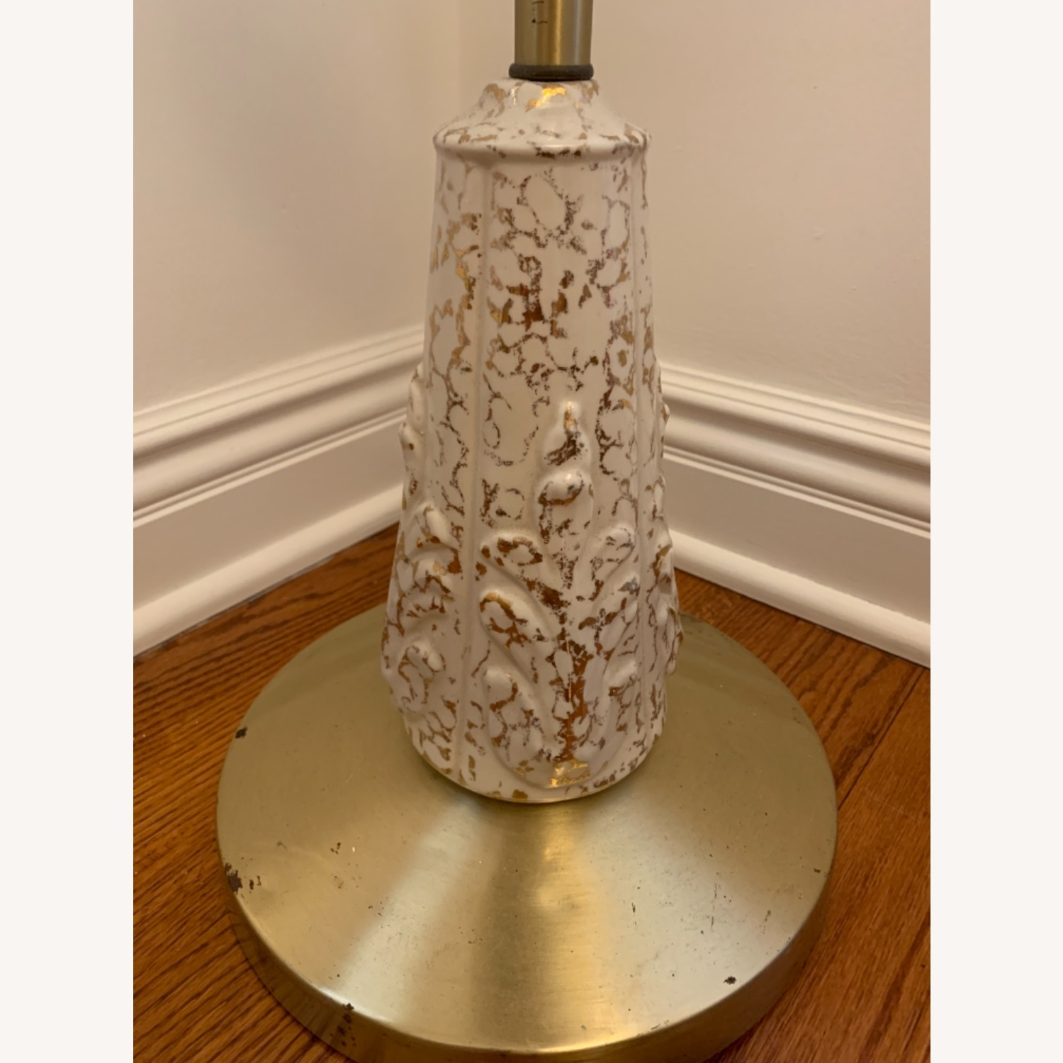 Vintage Brass, Ceramic and Gold Stand - image-4