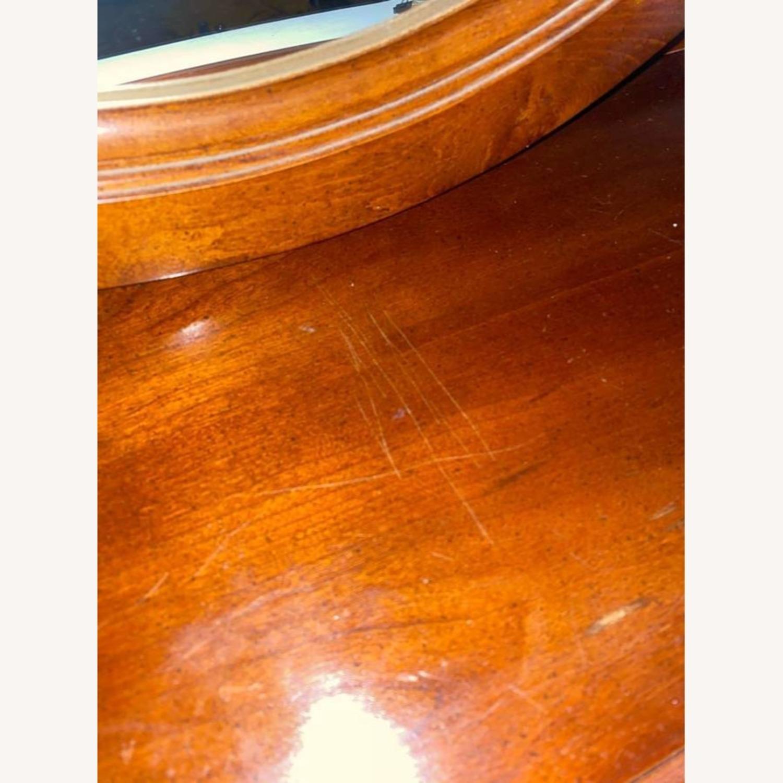 Antique Wood Mirror - image-3