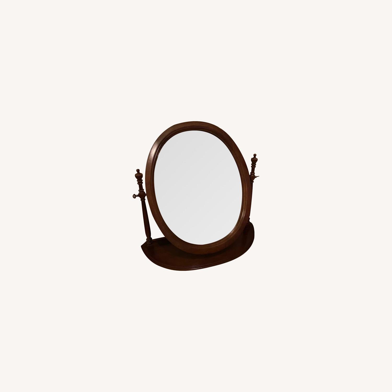 Antique Wood Mirror - image-0