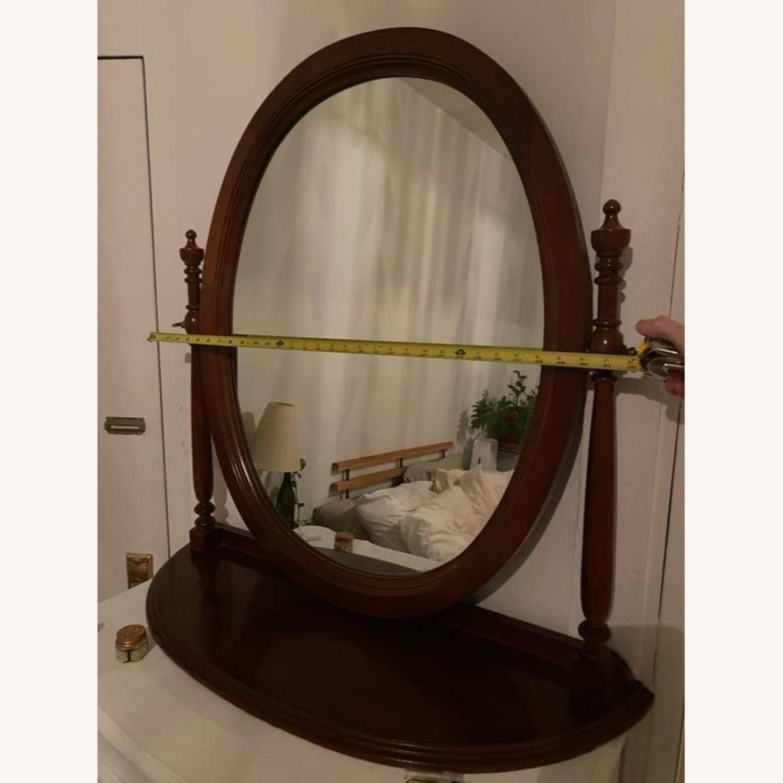 Antique Wood Mirror - image-2