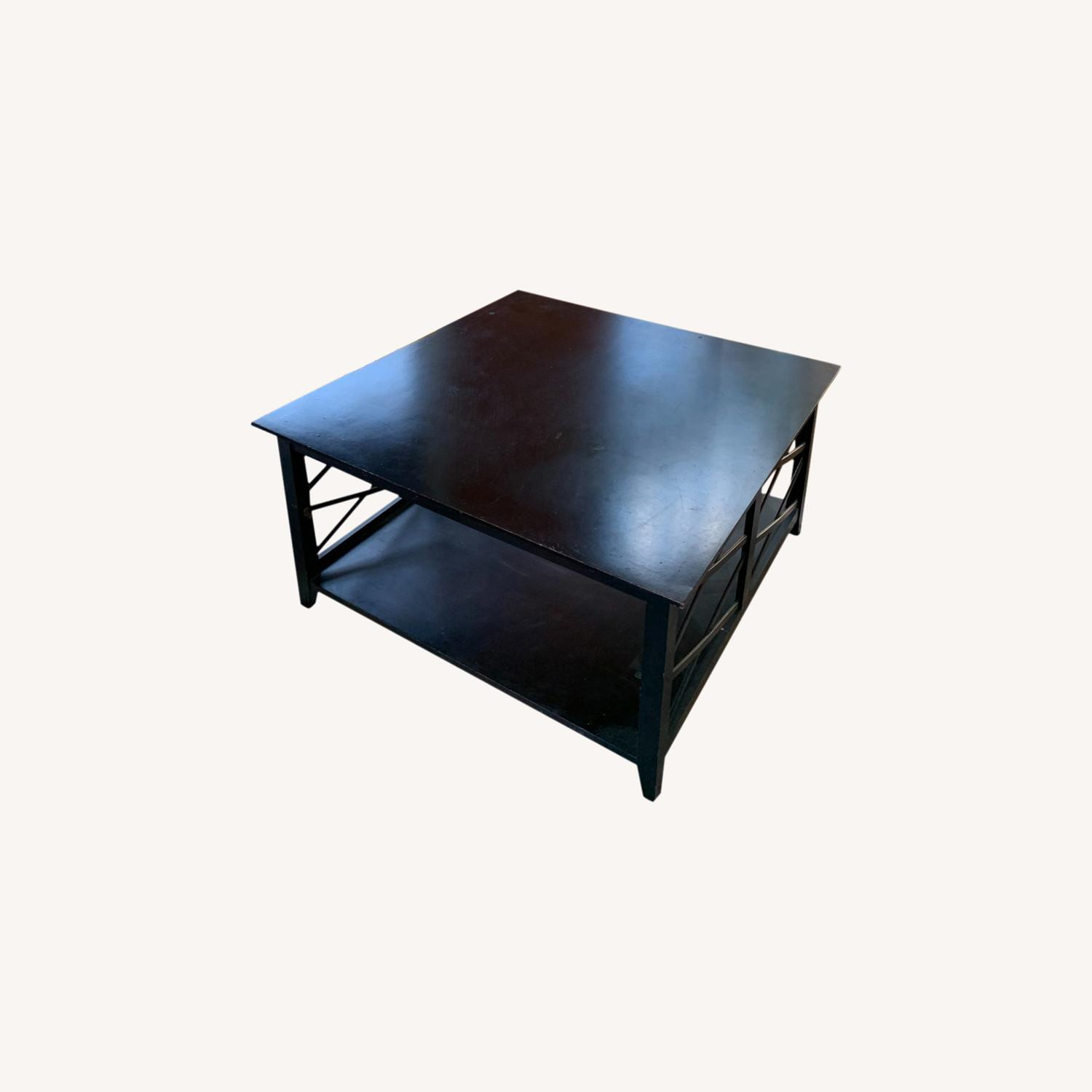 Dark Wooden Coffee Table - image-0