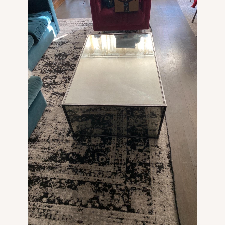 Restoration Hardware Strand Mirrored Coffee Table - image-2