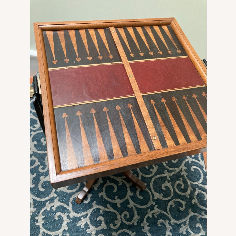 Chess - Backgammon -Cribbage Table Vintage - image-2