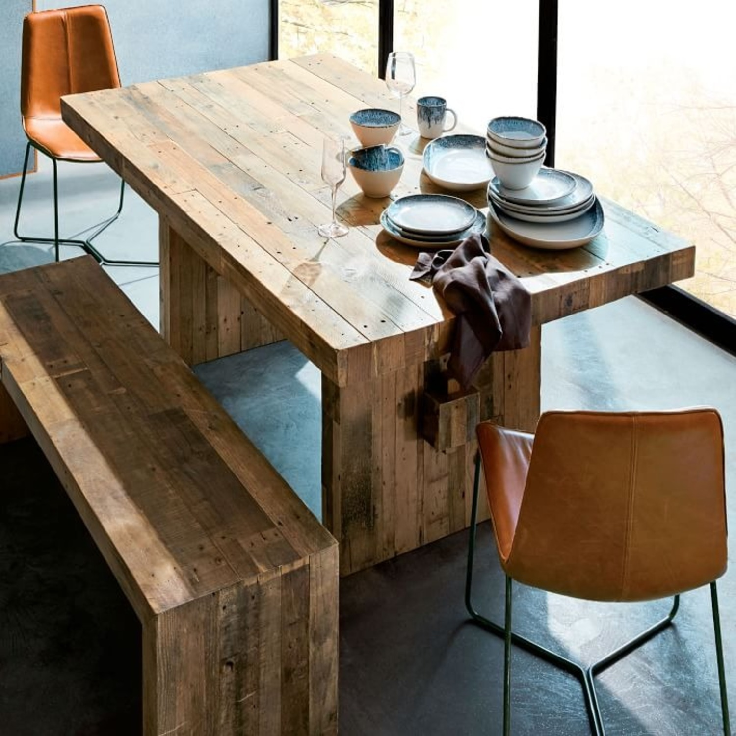 West Elm Emerson Reclaimed Wood Table - image-4