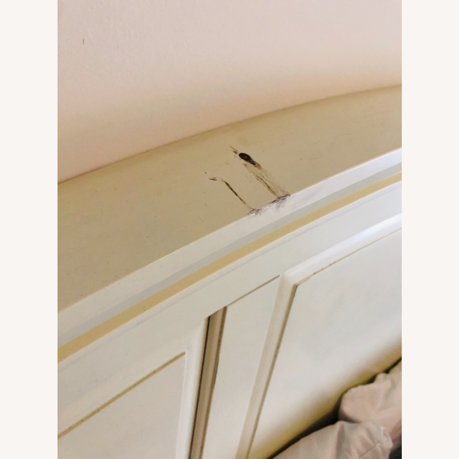 Pottery Barn Queen Sized Headboard (Off-White) - image-3