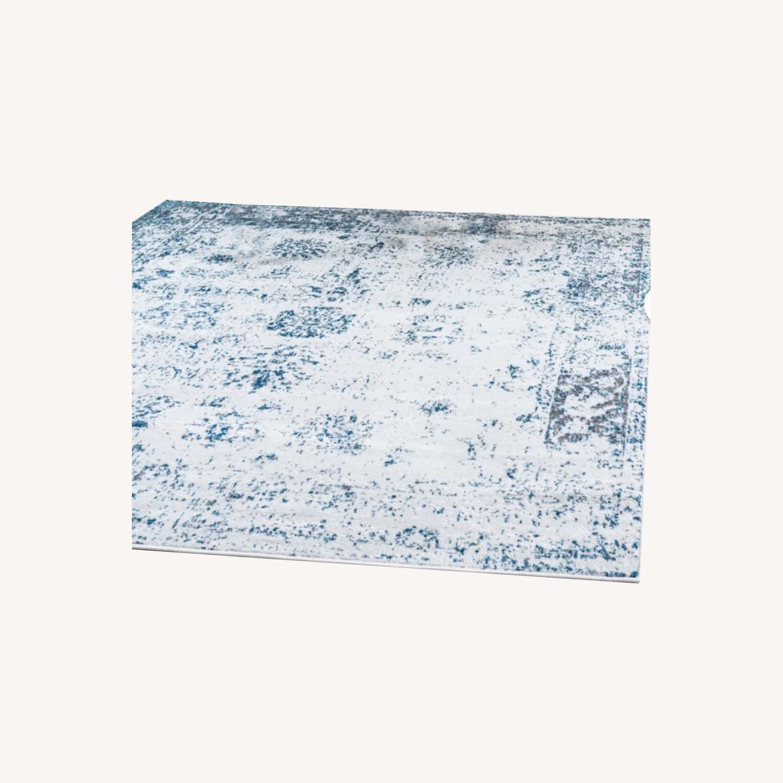 Wayfair Blue and Ivory Rug - image-0